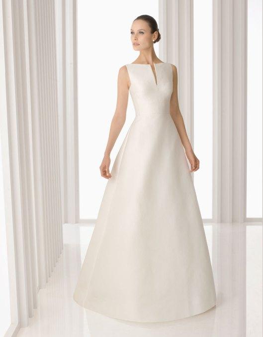 Simple Plain Wedding Dresses 57